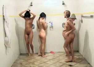 Teens girls in the shower